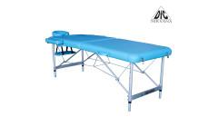 Массажный стол DFC NIRVANA, Elegant LUXE, 186х70х4 см, алюм. ножки, цвет св.голубой (Lt.Blue)