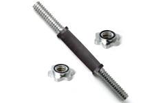 Гриф хром. 350 мм 26 мм замок кольцевая гайка, ручка с резин. покрытием