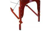 Массажный стол Dfc Nirvana, Relax, дерев. коричн.ножки, цвет горчичный с коричневым