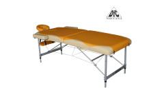 Массажный стол Dfc Nirvana, Elegant Premium, 192cm*75cm*6cm, алюм. ножки, цвет оранж./беж. (orange/beige)