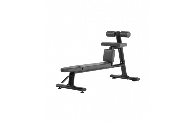Скамья для скручиваний горизонтальная Bronze Gym H-035 (черный)