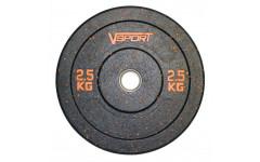 Диск бамперный черный 2,5 кг