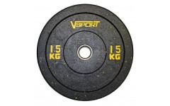 Диск бамперный черный 15 кг