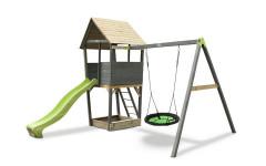 Игровой комплекс Акцент с качелями-гнездо